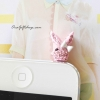 จุกปิดกันฝ่น Iphone รูปกระต่ายสีชมพู