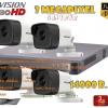 ชุดติดตั้งกล้องวงจรปิด DS-2CE16F7T-IT (3ล้าน) ir20เมตร ,4ตัว (dvr8ch., สาย rg6มีไฟ 100เมตร, hdd.2TB)