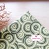 ผ้าคอตตอนไทย 100% 1/4ม.(50x55ซม.) ลายก้นหอย โทนสีเขียว