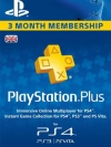 PSN Plus UK 3 month