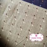 ผ้าทอญี่ปุ่น 1/4ม.(50x55ซม.) สีเขียวอ่อน ลายเครื่องหมายบวก