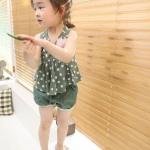 ชุดสาวน้อย summer สีเขียว