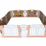 คอกกั้นเด็ก Haenim new สี Rose Gold รุ่น Melody+ Playgame ไซส์ L