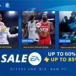 PS Store US - EA Sale ลดสูงสุด 85%