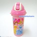 กระติกน้ำแบบฝาดันหลอดเด้ง ขนาด 450 ml ลายการ์ตูนเจ้าหญิงดิสนีย์ Disney Princess