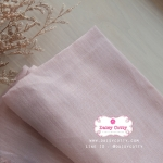 ผ้าลินิน สีชมพูอ่อน ขนาด 1/4 ม.(50x65ซม.)