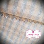 ผ้าทอญี่ปุ่น 1/4ม.(50x55ซม.) ลายตารางโทนฟ้า