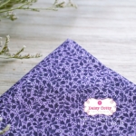 ผ้าคอตตอนไทย 100% 1/4 ม.(50x55ซม.) ลายใบไม้เล็ก โทนสีม่วง