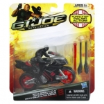 G.I. Joe Retaliation Ninja Speed Cycle Vehicle With Snake Eyes Figure