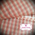 ผ้าทอญี่ปุ่น 1/4ม.(50x55ซม.)ลายตารางสีแดง