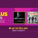 PlayStation Store US - PS Plus Specials ลดสูงสุด 75%