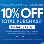 PlayStation Store Thai - แจก Discount Code ลด 10%