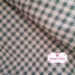 ผ้าคอตตอนไทย 100% 1/4 ม.(50x55ซม.) ลายตาราง โทนสีเขียว