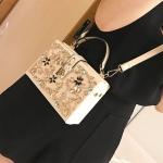 *Pre Order* กระเป๋าเป้แฟชั่น สีขาว/ดำ size 18x6x12 cm.