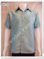เสื้อไหมญี่ปุ่นชาย ซาฟารี (สีเขียวสว่าง) ซ3S