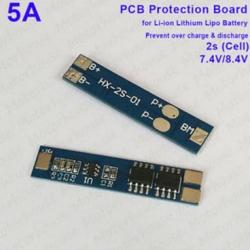 โมดูลป้องกัน แบตเตอรี่ลิเธียม 2 เซล 7.4V 8.4V กระแสสูงสุด 5A
