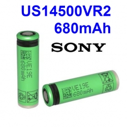 Sony US14500VR2 3.6V 680mAh 715mAh capacity lithium li-ion rechargeable battery 14500 AA battery