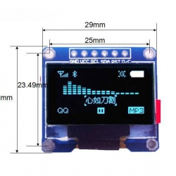 BLUE 0.96 inch OLED display module 12864 (SPI interface module)