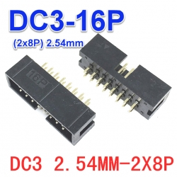 DC3-16P 2x8P Box Header IDC Male Sockets Straight (Pitch 2.54mm)