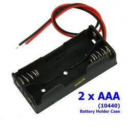 2 x AAA รางถ่าน AAA (10440) 2 ก้อน