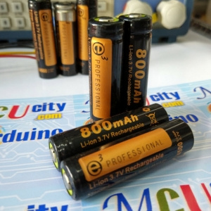 14500 (AA) lithium battery flashlight battery 3.7v 800 mAh (มีวงจรป้องกัน)