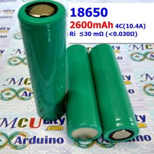 18650-2600mAh GREEN (4C 10.4A) Lithium-ion