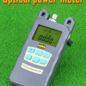 Fiber Optic Power Meter Tester Seven-Wavelength Optical Power Meter +10 to -70 Visual Fault Locator Gray