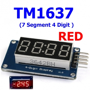 TM1637 ( 7 Segment 4 Digit ) RED