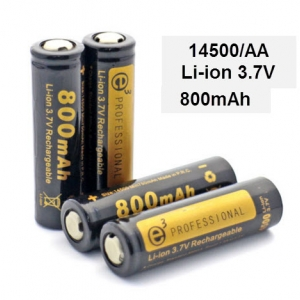 14500 (AA) lithium battery flashlight battery 3.7v 700 mAh