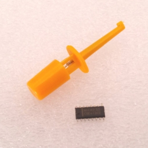 (YELLOW) Hook Clip Test Probe for Electronic ( CLIP TEST J)
