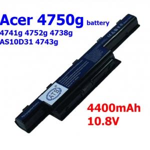 Acer 4750g battery 4741g 4752g 4738g AS10D31 4743g laptop battery
