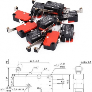 V-156-1C25 Micro switch with long round Limit switch