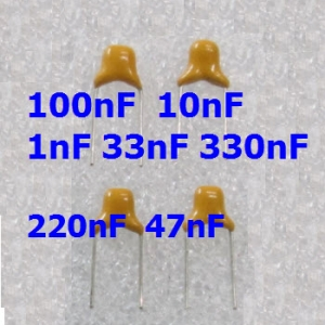 1nF - 1uF Multilayer Ceramic Capacitor (4ตัว) (4 pcs per lot)