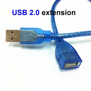 Clear Blue USB 2.0 extension bus data line pair is well USB extension cable