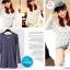 เสื้อยืดเกาหลีแขนยาว ลายยีราฟ thumbnail 2