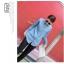 เสื้อแฟชั่นเกาหลีแขนยาว ผ้ายีนส์ซีด ตกแต่งหมุดเพิ่มลวดลายให้ตัวเสื้อ thumbnail 4