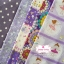 Set 5 ชิ้น: ผ้าคอตตอน100% 4 ลาย และผ้าแคนวาส ลายจุดโทนสีม่วง thumbnail 1