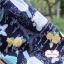 ผ้าคอตตอนลินิน 1/4ม.(50x55ซม.) ลายวินเทจ โทนสีกรมท่า thumbnail 1