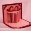 A39 การ์ดป๊อปอัพไดคัท กล่องของขวัญสีชมพู thumbnail 1