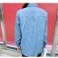 เสื้อแฟชั่นเกาหลีแขนยาว ผ้ายีนส์ซีด ตกแต่งหมุดเพิ่มลวดลายให้ตัวเสื้อ thumbnail 5