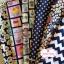Set 6 ชิ้น : ผ้าคอตตอนไทย 6 ลาย โทนสีน้ำเงินกรมท่า ชิ้นละ1/8 ม.(50x27.5ซม.) thumbnail 1