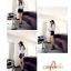 เสื้อแฟชั่นสตรีใหม่ สีขาวพื้น ลวดลายตาราง ทรงสวย ใส่สบาย คลาสสิคสุดๆ thumbnail 5