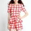 เดรสเกาหลีแบบขากางเกง สีสันสดใสมาในแบบลายสก๊อต สวยใส ไม่ตกเทรนด์ thumbnail 4