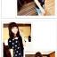 เสื้อแฟชั่นเกาหลี มาในลวดลายสุด chic คอเสื้อแบบคอวี สีทูโทน thumbnail 2