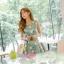 เดรสแฟชั่นเกาหลีทรงยาว พร้อมเข็มขัดในชุด กับลายดอกไม้สวยๆ thumbnail 16