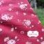 ผ้าคอตตอนไทย 100% 1/4 ม.(50x55ซม.) พื้นสีแดง ลายดอกไม้ thumbnail 1