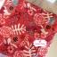 ผ้าคอตตอนลินิน 100% 1/4 เมตร(50x55cm.) โทนสีแดง ลายblossom thumbnail 2