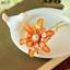 ปิ่นประดับผมแฟชั่น ดอกไม้คริสตัลส้มทอง thumbnail 1
