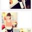 เสื้อแฟชั่นเกาหลี แขนกุด เบาสบาย พริ้วไหวด้วยการเล่นโทนสี 3 ชั้น thumbnail 3