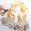 ผ้าพันคอผ้าไหม ลายปริศนาดอกไม้สีเบจ ( รหัส P104 ) thumbnail 1